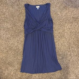 Vneck light weight purple dress The Loft